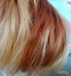 Волосы натуральные для наращивания, 37 см, 107 пря
