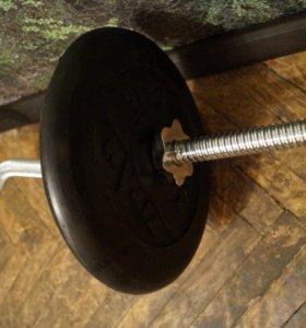 Штанга W образная 28 кг (гриф, блины)