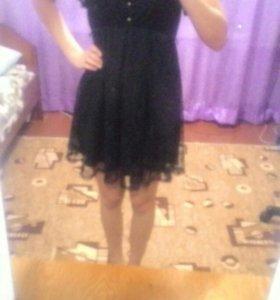 Чёрное, летнее, женское платье.