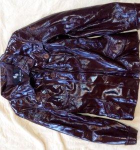 Куртка коженная лакированная