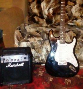 Продаю электро гитару и комбо уселитель