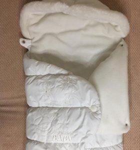 Зимний конверт для новорождённого