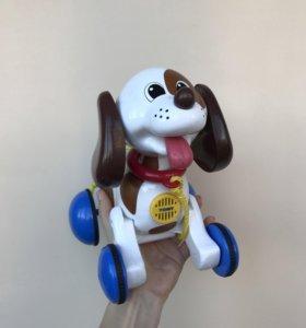 Игрушка собачка на батарейках