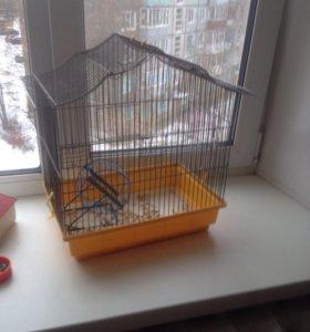Клетка для хомяка и птиц