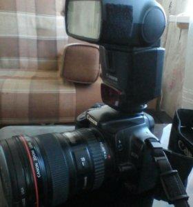 Фотоаппарат Canon, вспышка, объектив