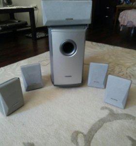 Сабвуфер + 5колонок Samsung
