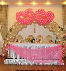 Гелиевые шары(Оформление зала)