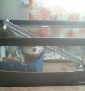 Аквариум 400л.,фильтор,сачки,ракушки,декорации
