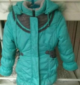 Куртка зимняя на девочку 5-7 лет