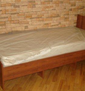 Кровать односпальная ЛДСП новая.
