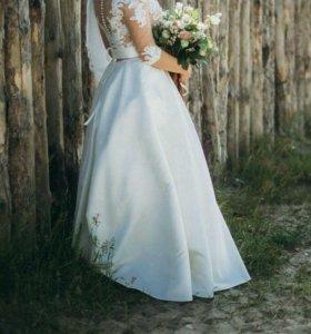 """Свадебное платье цвета """"Шампань"""""""