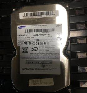 Жесткий диск 80Gb Samsung HD080HJ Sata