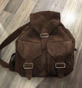 Рюкзак из натуральной замши