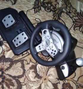 Игровая приставка Руль с педалями для ПК