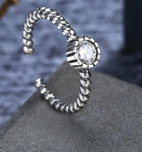 кольцо 16-17р серебро 925 пробы