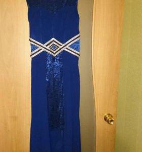 Синее платье, б/у 1 раз.