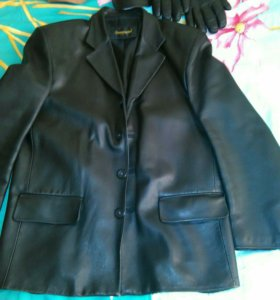 Пиджак кожанный, размер М