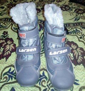 Лыжные детские ботинки, размер 32
