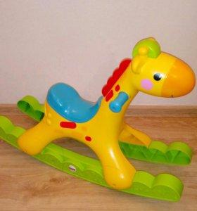 Качалка жираф Fisher Price (музыкальный)