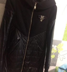 Куртка кожаная размер s