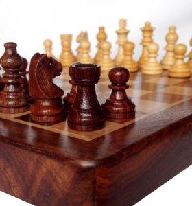 Шахматы из ценных пород,18*18 см, магнитные