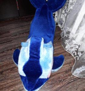 Мягкая качалка дельфин
