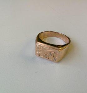 "Кольцо-печатка ""Биткоин"" из золота"
