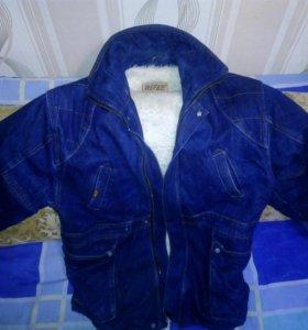 Джинсовая куртка зимняя RIFLE