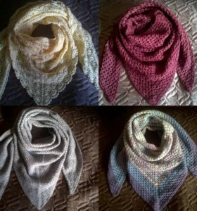 Платок ручной вязки (бактус/шаль)