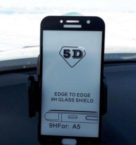 Защитное стекло 5D Black для Samsung a520 (2017)