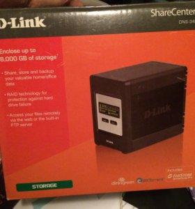 Хранилище D-LINK dns-343