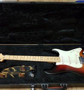 Fender american deluxe stratocaster rw 3-color sun