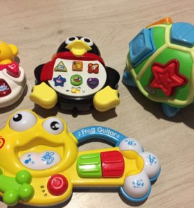 Игрушки пакетом+на стульчик для кормления