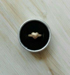 Новое кольцо Сердечко с орнаментом