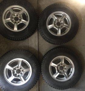 "Продам 13"" зимние колёса 4х100 и 4х114,3"