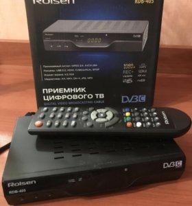 Приставка цифрового ТВ ( DVB-C) Rolsen RDB405