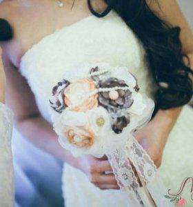 Букет невесты из воздушных тканевых цветов (заказ)
