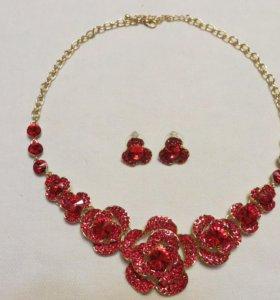 Колье (ожерелье) с серьгами