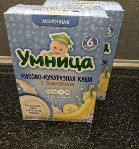 Каша умница рисово-кукурузная с бананом