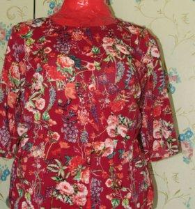 Новая блуза с баской.р-р 50