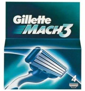 Лезвия для бритья Gillette Mach3 (4 шт)