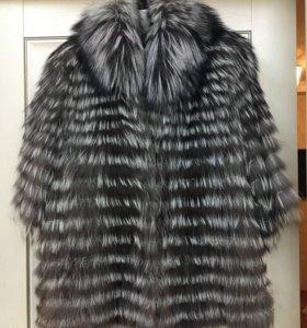 Меховая накидка -куртка