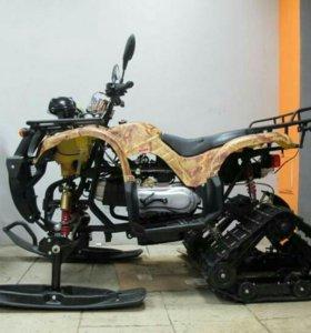 Продам бу зимний комплект для квадроцикла 110 125