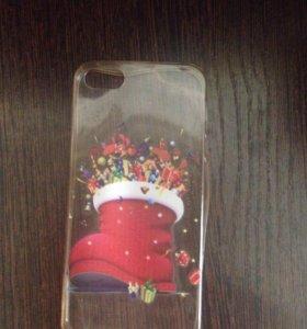 Новогодний чехол iphone5/5s