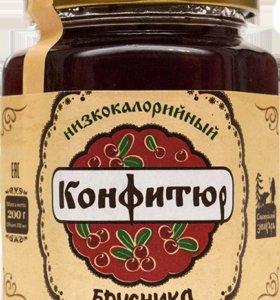 """Конфитюр """"Брусника"""" 200 гр"""