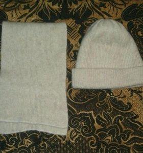 Комплект : шапка, шарф.