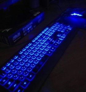 Клавиатура+мышь+коврик