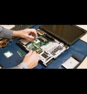 ремонт ноутбуков,пк,телевизоров