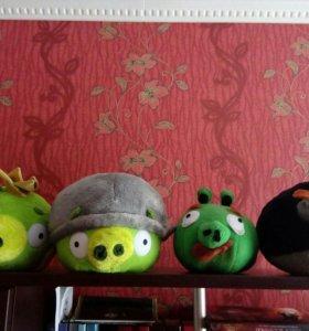 Игрушки мягкие Angry Birds