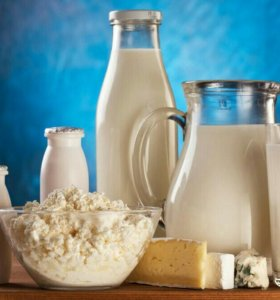 Коровье молоко, творог
